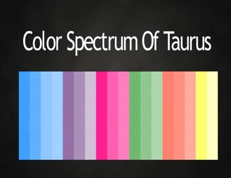 taurus colors colors of the zodiac astrology color palettes abstar ology