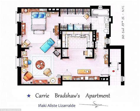 tv apartment floor plans amazing sketched floorplans of famous tv apartments