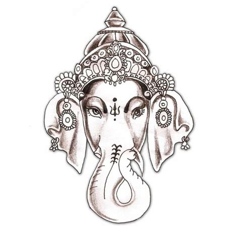 indian elephant tattoo elephant hindu hindu elephant god god ganesha