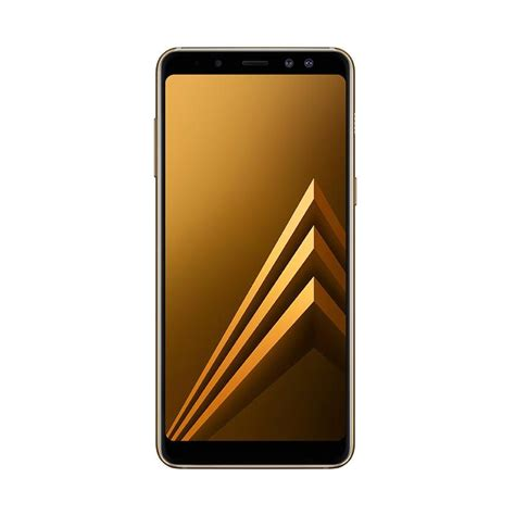 jual samsung galaxy a8 2018 smartphone gold 32 gb 4 gb