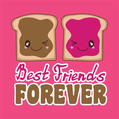 Pb Premium Tees Size S M New 1 peanut butter jelly bff best friends forever kawaii