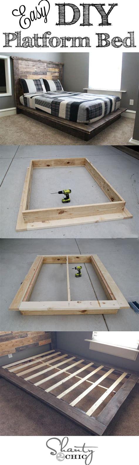 Simple Platform Bed Frame Plans Echopaul Official Easy Diy Platform Bed