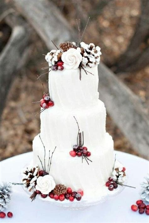 Superb White Frosted Christmas Tree #2: Winter-wedding-cakes-ideas-4.jpg