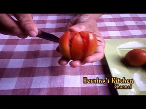 cara membuat corak buah dari muhd youtube cara membuat garnish bunga teratai dari tomat youtube