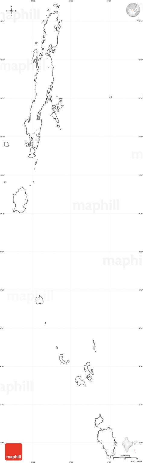 Andaman And Nicobar Outline Map by Blank Simple Map Of Andaman Nicobar Cropped Outside No Labels