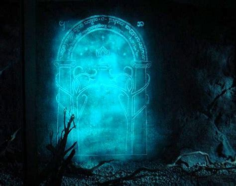 Magic Gate Of Moria Lord Of The Ring The Hobbit Tshirt moria gate new line cinema