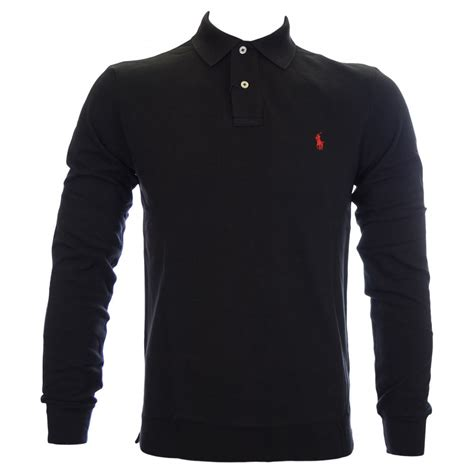 Polo Ralph Laurent polo ralph slim fit sleeve black polo shirt