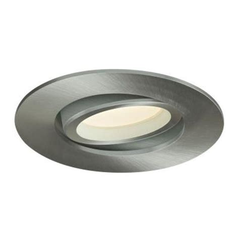Home Depot Led Recessed Lights by Illume Lighting 3 37 In Satin Nickel Recessed Led Directional Light I Leddownsw3 Sn The