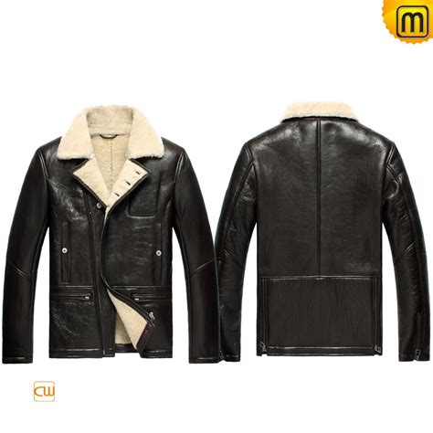 winter biker jacket mens winter sheepskin biker jacket cw856163