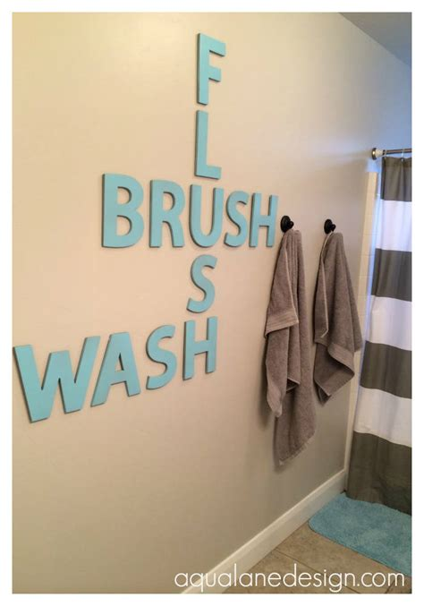 Bathroom Wall Letters 25 Best Bathroom Decor Ideas And Designs For 2017