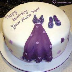 beautiful violet rose  birthday cake   photo happy birthday wishes birthday