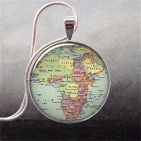 africa map jewellery africa map pendant africa map necklace africa map