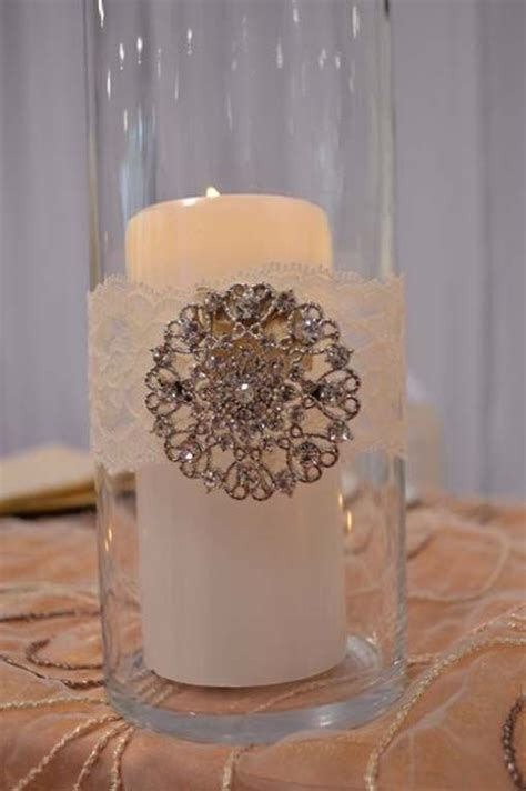 Decorations Tips, Vintage Lace And Brooch Detail In A