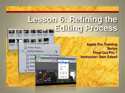 final cut pro lessons final cut pro 7 certification lesson 6