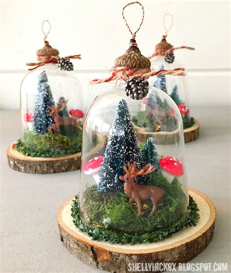 sttr woodland cloche ornaments