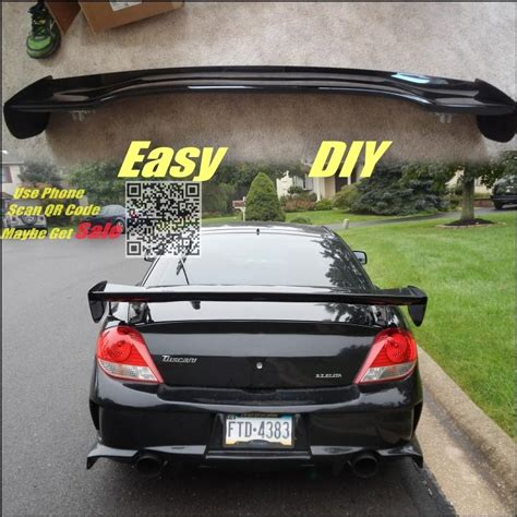 mitsubishi eterna vrg car big gt rear spoiler wing deflector blades drift