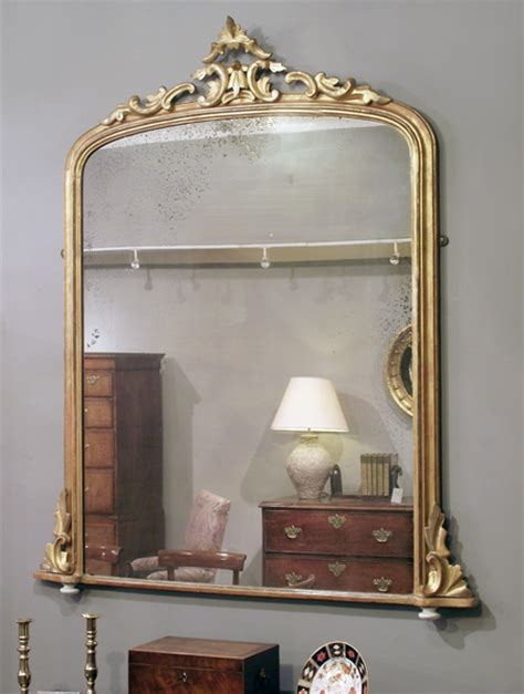 antique gilt overmantel mirror mantelpiece mirror