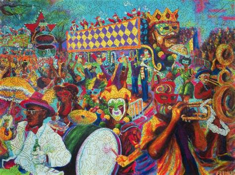 All on a Mardi Gras Day - Wooden Jigsaw Puzzle - Liberty ... Laissez Les Bons Temps Rouler