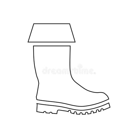 rubber boot template rubber boot icon outline style stock vector