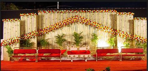 South Indian Wedding Stage Decoration Ideas