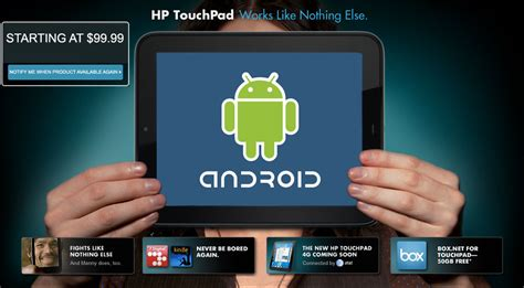 install android on hp touchpad how to install android on hp touchpad justin my
