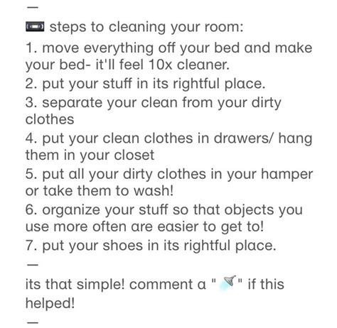 tips on cleaning your room musely