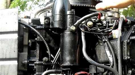 howtoinafew changing  outboard motors starter youtube