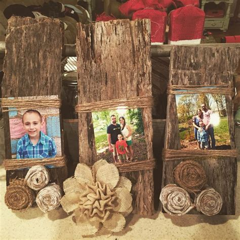 idea for wood metal mix decorations 25 best ideas about burlap picture frames on