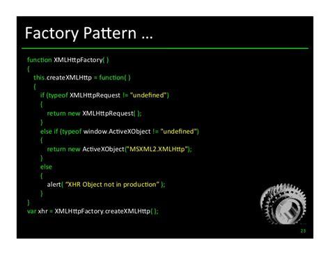 js design pattern factory javascript design patterns