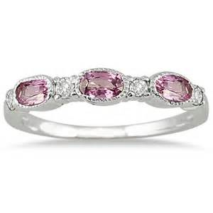 pink sapphire and ring 14k white gold prr4051ps