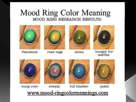 mood swing ring colors mood ring color meaning authorstream