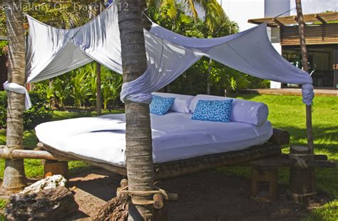 realever maya double sun lounger hammock bed mexico luxury and relaxing on the riviera maya mallory
