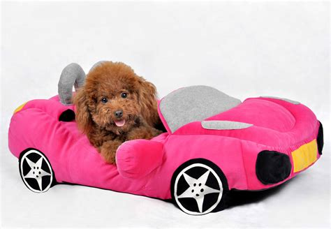 Yellow Car Shape Dog Beds Bingpet