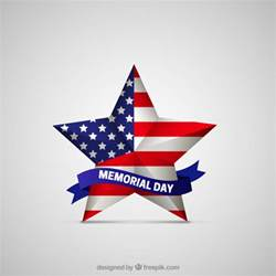 memorial day star with american flag vector free download