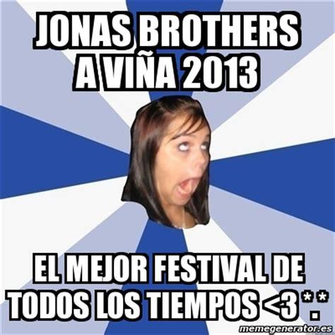 Festival Girl Meme - meme annoying facebook girl jonas brothers a vi 241 a 2013