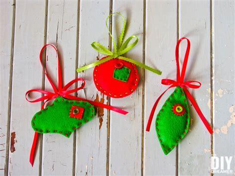 felt christmas ornaments easy tutorial