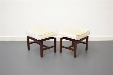 Stool Floaters by Pair Of Floating Walnut Stools By Jens Risom For Sale At