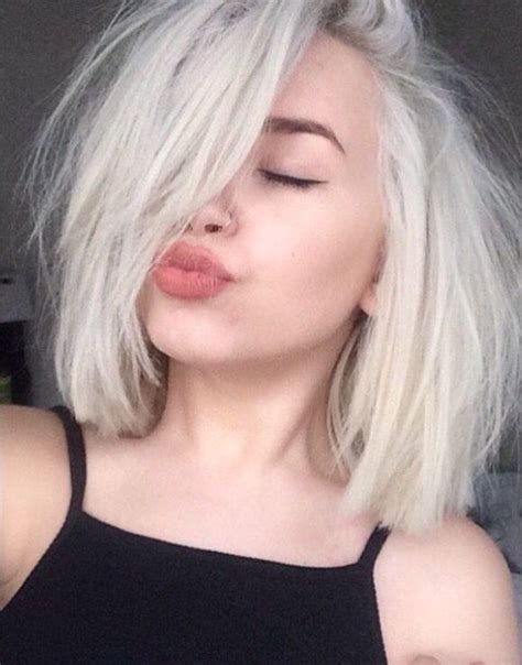 older women with platinum blonde pink hair 25 best ideas about bleached hair on pinterest short