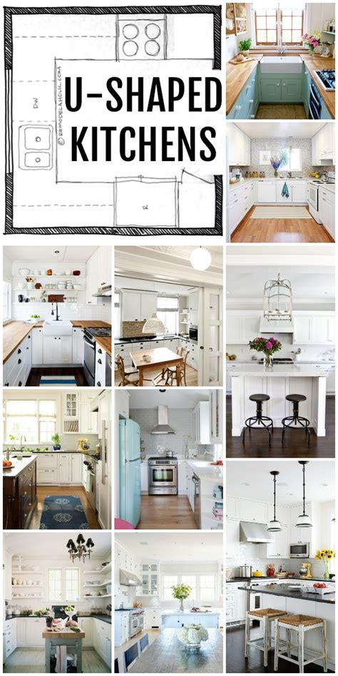 Small Kitchen Layouts With Island Remodelaholic Popular Kitchen Layouts And How To Use Them