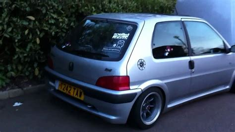 pug 106 quicksilver my peugeot 106 quiksilver startup and walk around