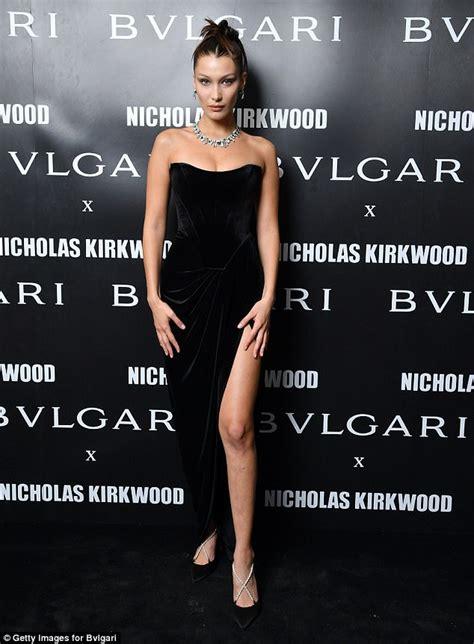 Dress Bulgary Black hadid dazzles at bvlgari bash at milan fashion week