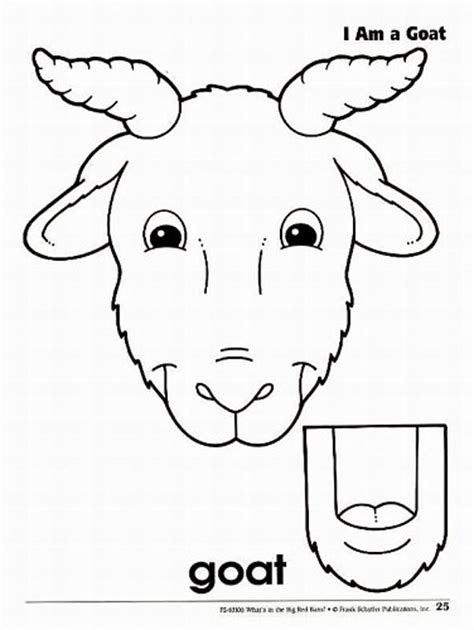 best photos of farm animal paper templates goat paper