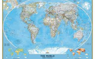 Big Map Of The World by Large Detailed Political Map Of The World Wallpapers And