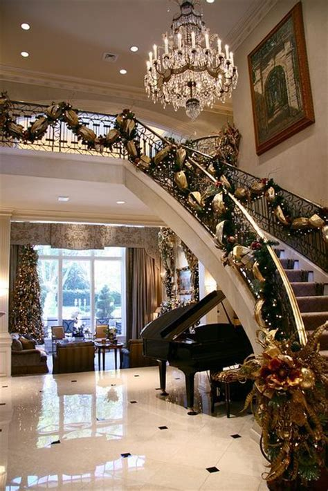 luxury homes decorated for christmas 17 best ideas about elegant christmas decor on pinterest