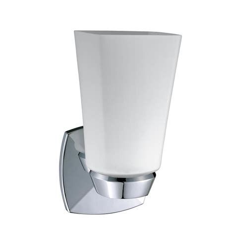 Chrome Wall Sconce Shop Gatco 4 5 In W 1 Light Chrome Arm Wall Sconce At Lowes