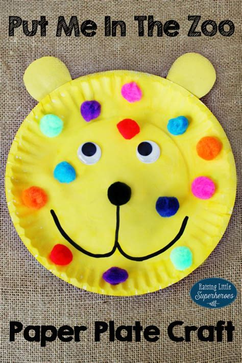 dr seuss paper plate craft how to make a put me in the zoo paper plate craft
