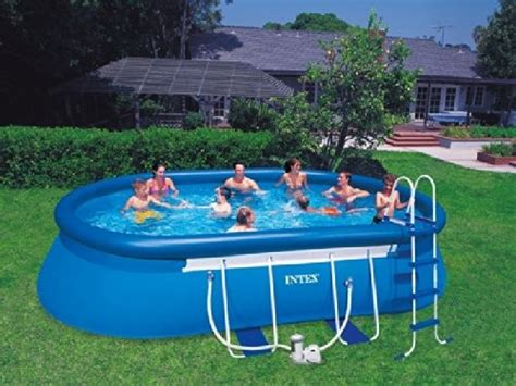 intex oval frame pool 610x366x122 57982 best swimming pool for garden