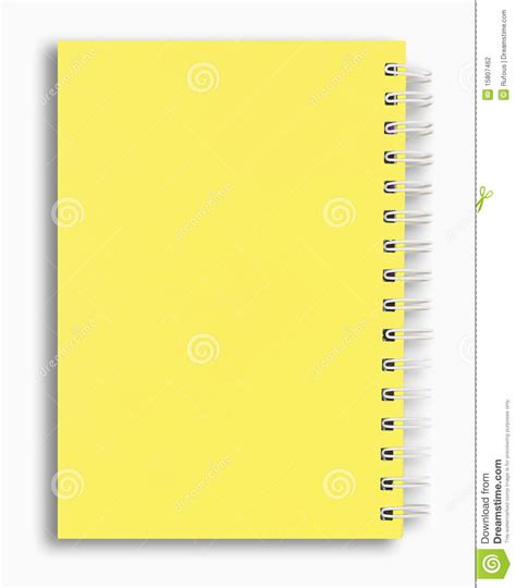 Softcase Notebook 10 Yellow Sign yellow color note book stock photo image of open book