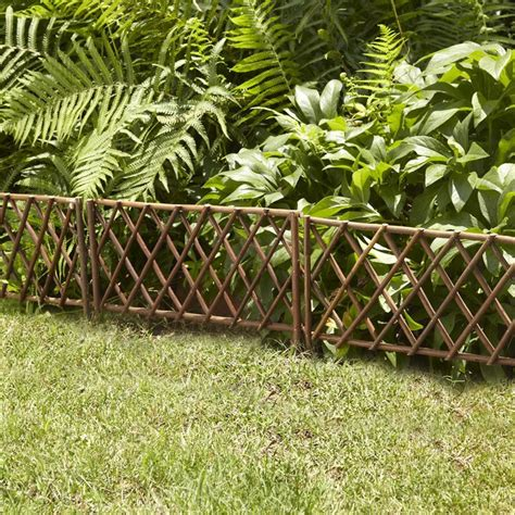 Willow Gardens by 18 In H X 14 In W Unpeeled Willow Garden Edging 6 Pack