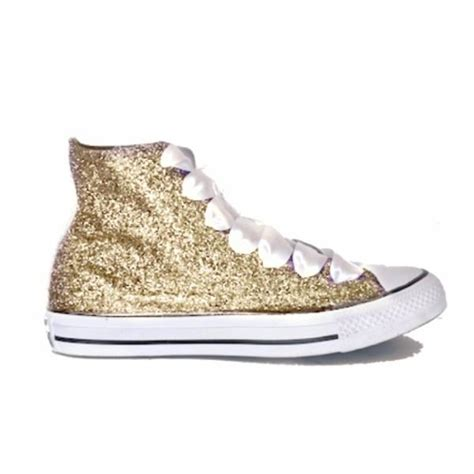 gold sequin high top sneakers wedding sparkly glitter converse all chagne gold
